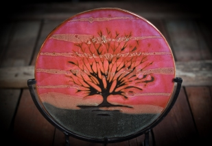 Decorative Plate with Tree