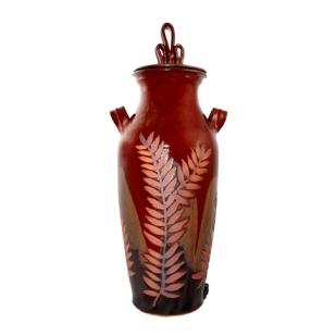 Red Leaf Vase